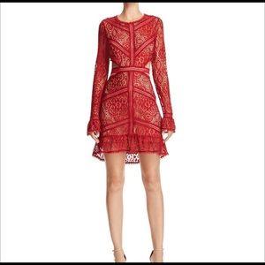 For Love and Lemons Emerie Red Dress